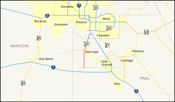 Chanlder AZ Map