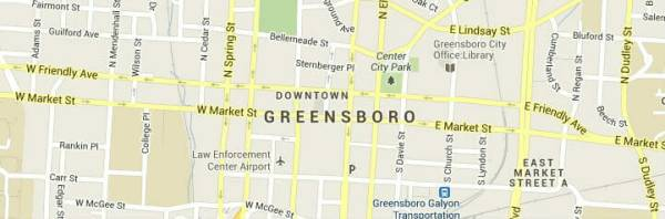 Greensboro Map