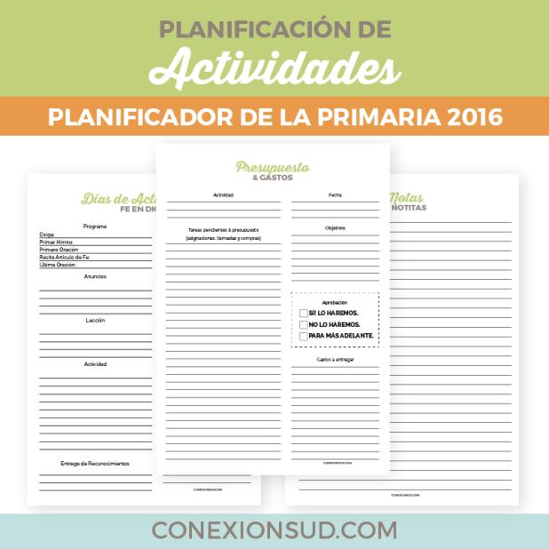 Planificador de la Primaria 2016 - ConexionSUD