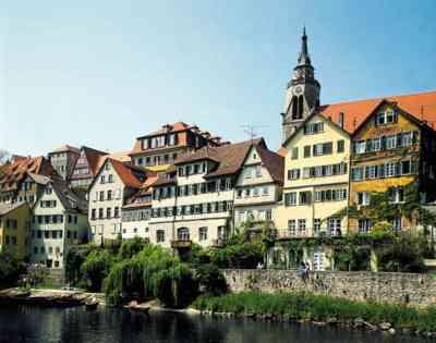 Unha fermosa postal de Tubinga