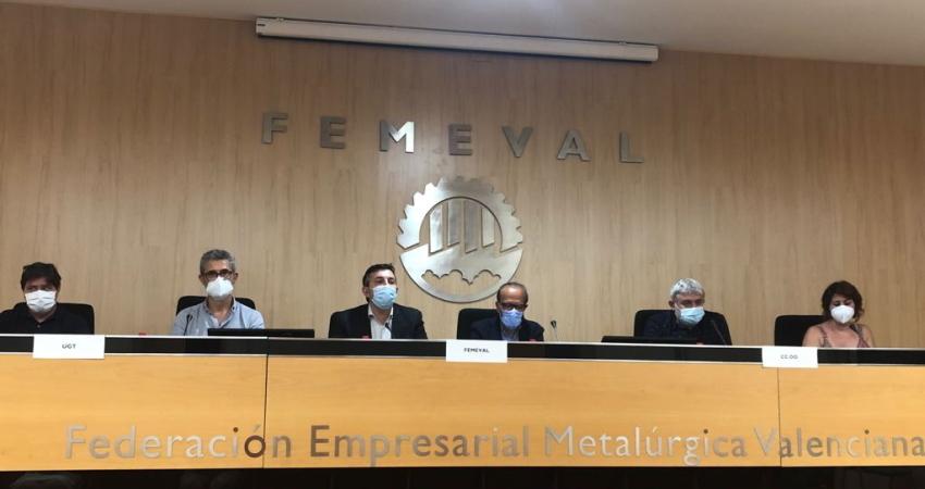 FEMEVAL, CCOO y UGT firman el mayor convenio colectivo sectorial de la Comunidad Valenciana