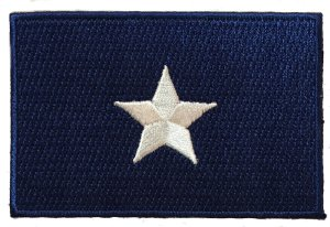 sew on confederate bonnie blue flag patch