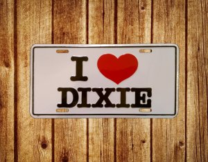 I love dixie rebel license plate