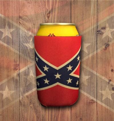 can koozie's rebel confederate flag