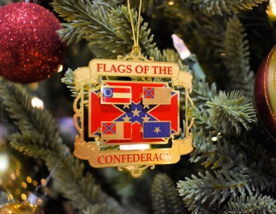 Christmas tree rebel flag ornament