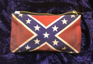 small hand purse, pouch, rebel flag