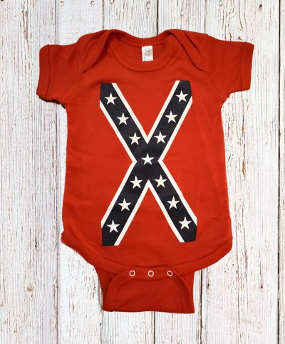 confederate flag baby clothes
