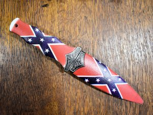 confederate flag knife