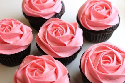 PinkRoseCupcakesCreatedbyDiane
