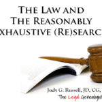 """The Legal Genealogist"" Judy Russell on the law, courts, and finding females"