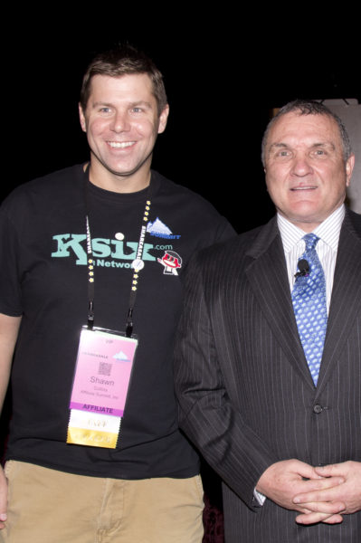 "Shawn Collins and Daniel ""Rudy"" Ruettiger"