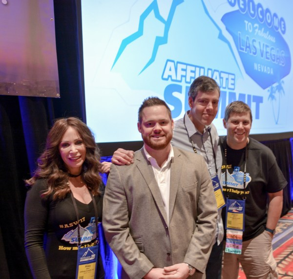 Missy Ward, Sean Dolan, Timothy Edwards, and Shawn Collins at Affiliate Summit West 2017