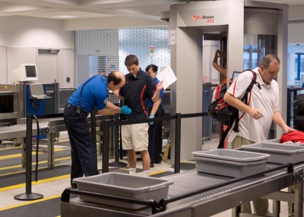 Airport security bins