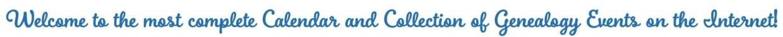 free genealogy events calendar