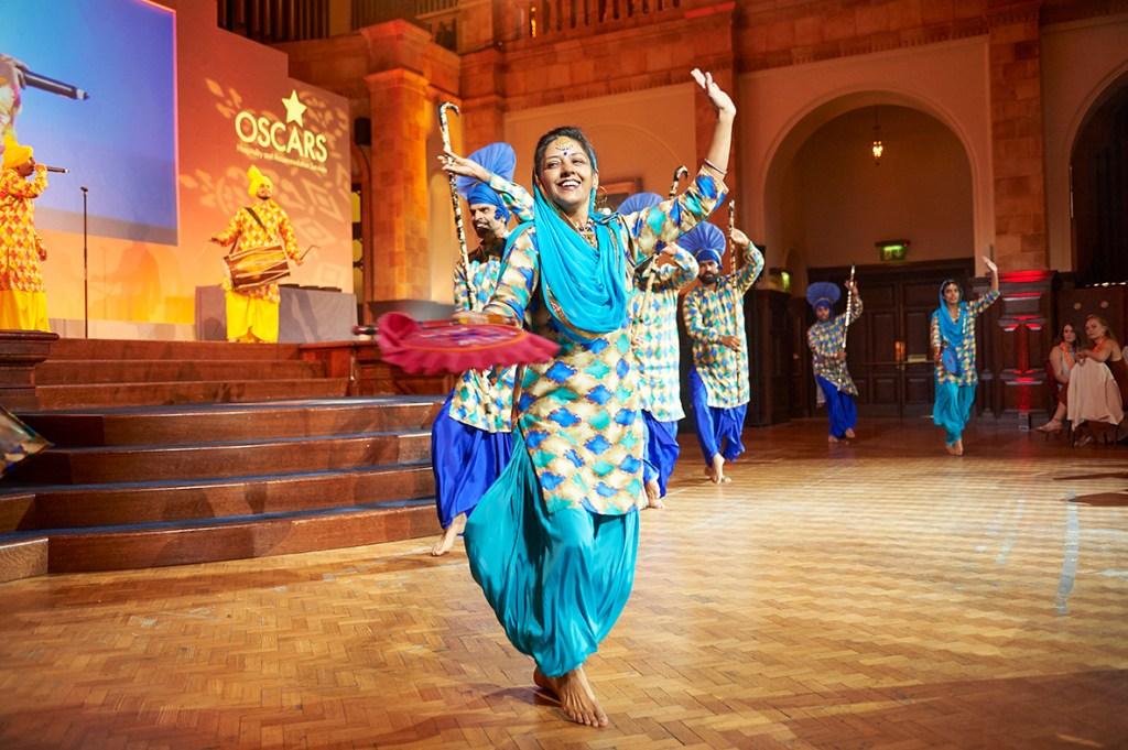 Nachda-Sansar performing at the HAS OSCARS in the Great Hall