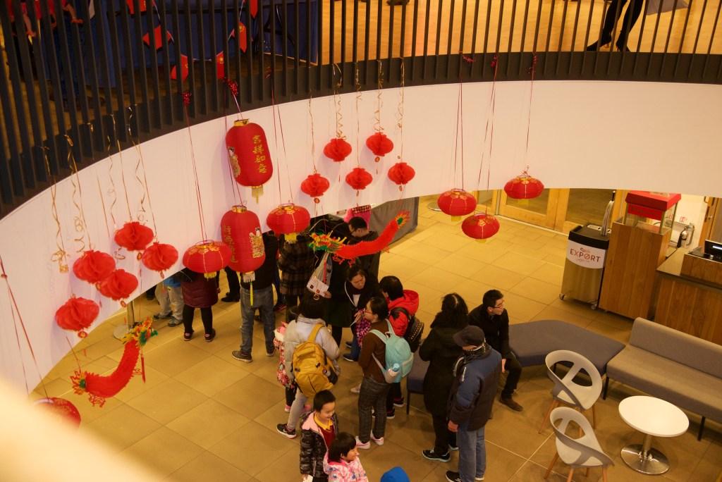Chinese lanterns hanging in the Bramall
