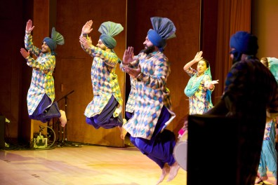 Male dancers on stage