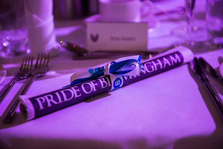 Pride of Birmingham table