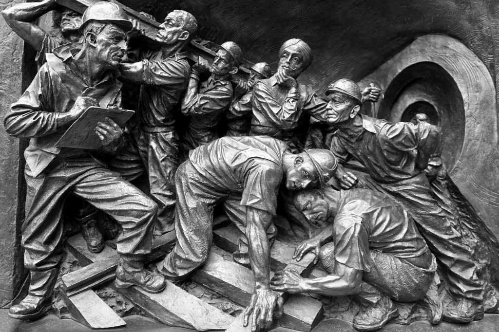 Statue of miners