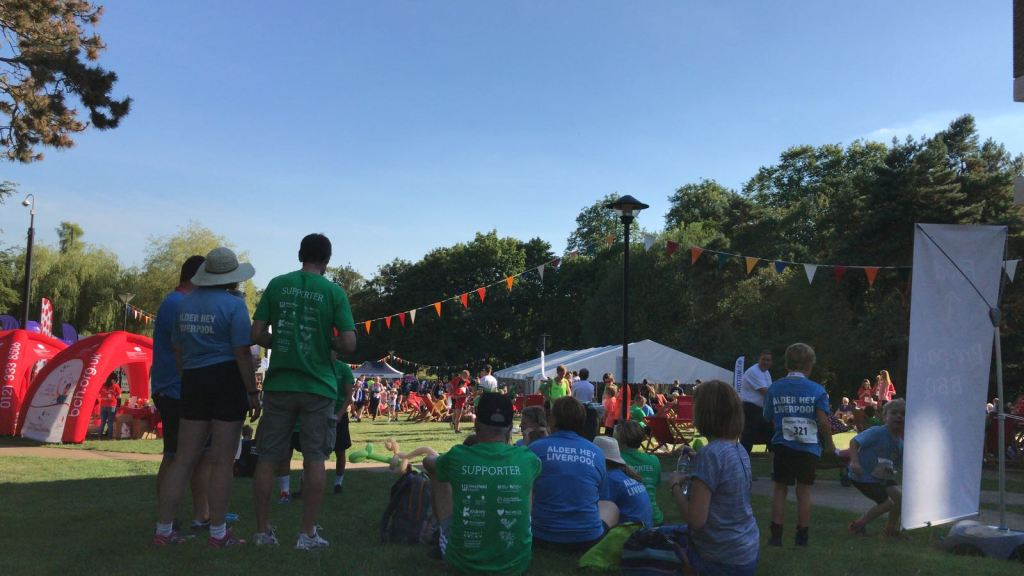 People enjoying the Transplant Games festival at the vale
