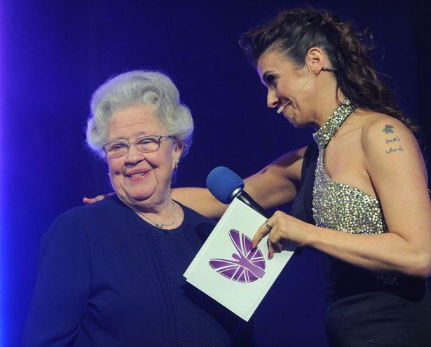 Person receiving award