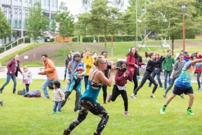 Enjoying sport in the open air