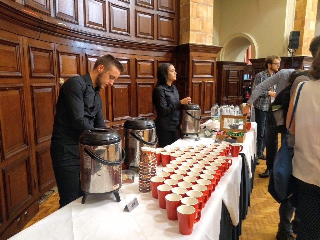 Coffee break in the Great Hall