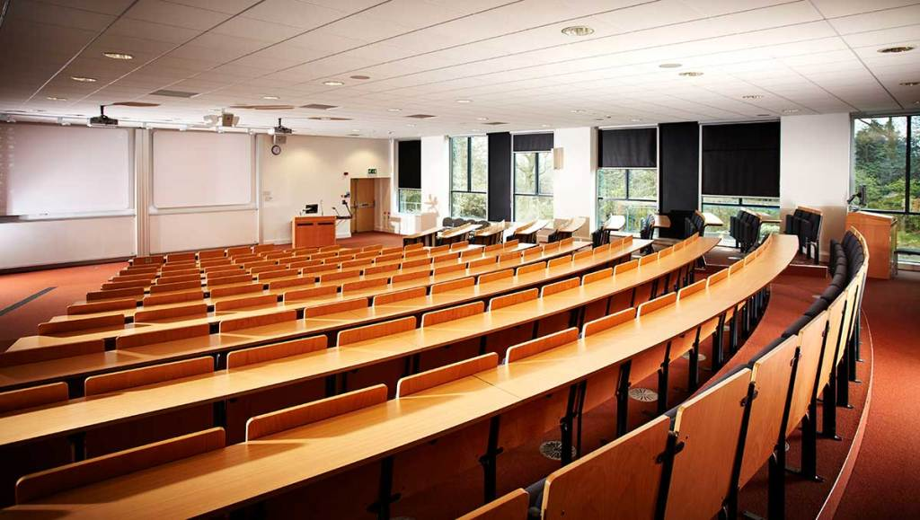 Business School lecture theatre G12 side view