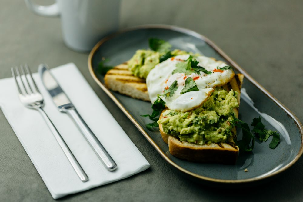 avocado and egg toast brooks