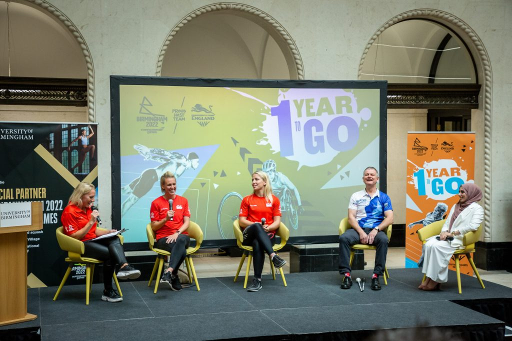 Athletes sat on stage as part of Q&A panel.
