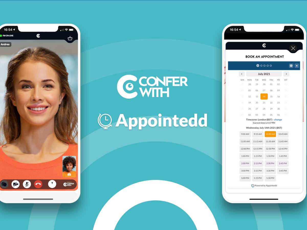 confer with x appointedd powering virtual appointments