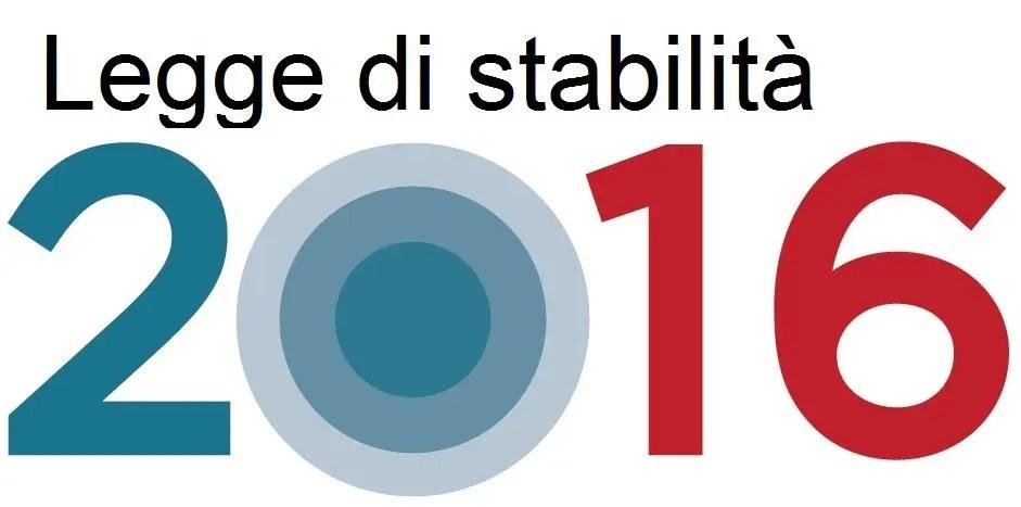 Legge di Stabilità 2016: ecco le news