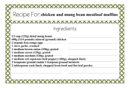 chicken and mung bean meatloaf muffins