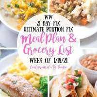 Meal Plan & Grocery List {Week of 1/18/21} | 21 Day Fix Meal Plan | WW Meal Plan