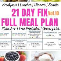 21 Day Fix Meal Plan Vol. 10 {All Meals | All Brackets | Free Printables}
