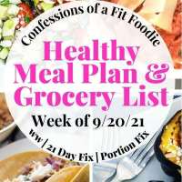 Meal Plan & Grocery List {Week of 9/20/21} | 21 Day Fix Meal Plan | WW Meal Plan