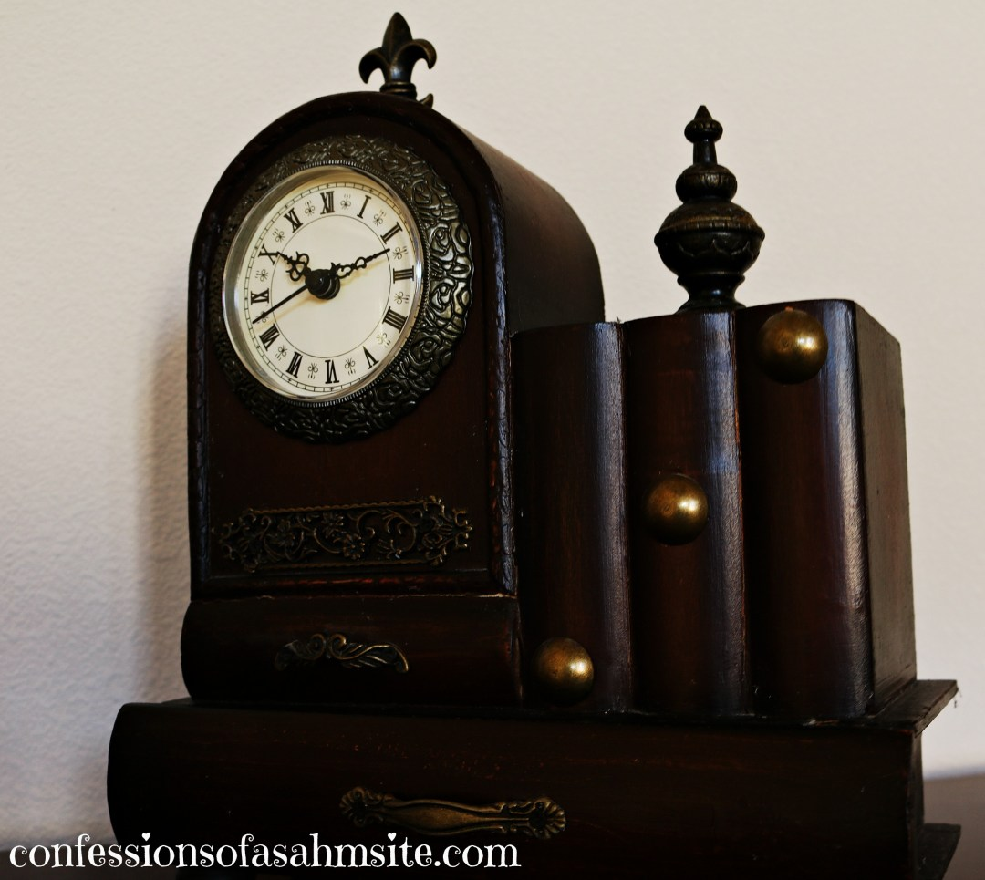dark brown clock