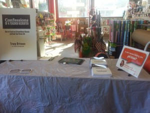 Tracy Brisson Book Signing Confessions of a Teacher Recruiter