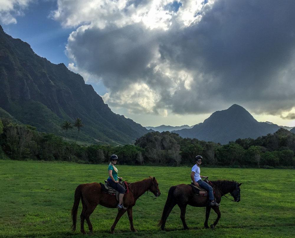 Horseback Riding at Kualoa Ranch Hawaiian Islands - Oahu