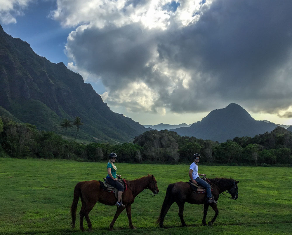 Horseback Riding at Kualoa Ranch Hawaiian Islands - Oahu