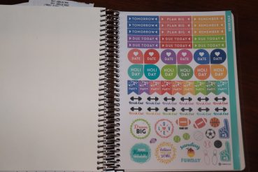 Purple Trail Stickers in Mom Planners