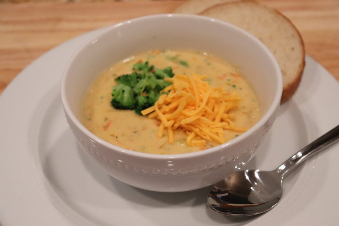 I love winter becuase I love soup! This recipe is my favorite Copycat Panera Broccoli Cheddar Soup, it is a quarter of the cost than buying it at Panera!