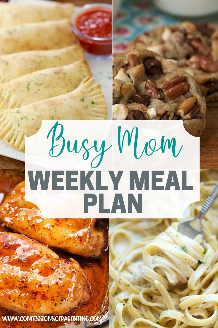 Busy Mom Weekly Meal Plan