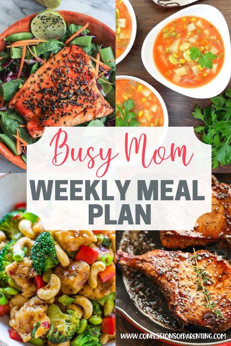 Sometimes trying to figure out a meal plan doesn't fit in. This weekly meal plan for the stressed out mom is perfect to take one more thing off your list!