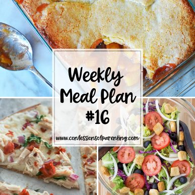 The most complicated part of dinner time can be coming up with dinner. Take that stress out of your life with our uncomplicated weekly meal plan for families