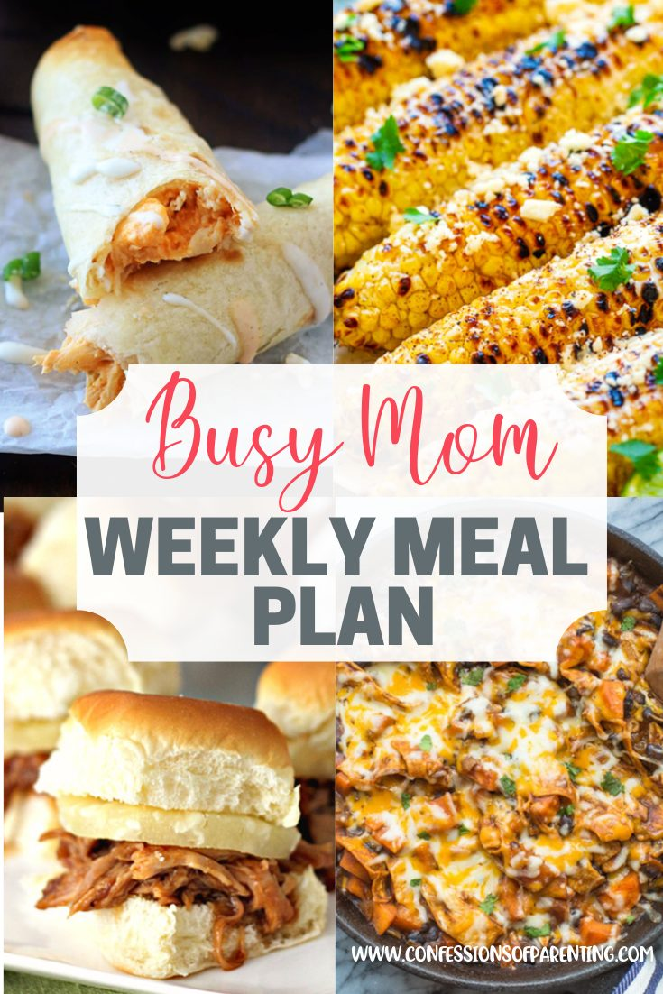 Sometimes it takes a lot to get through the week. Thankfully we have the weekly meal plan for persevering moms to help make the dinner rush a little bit easier!