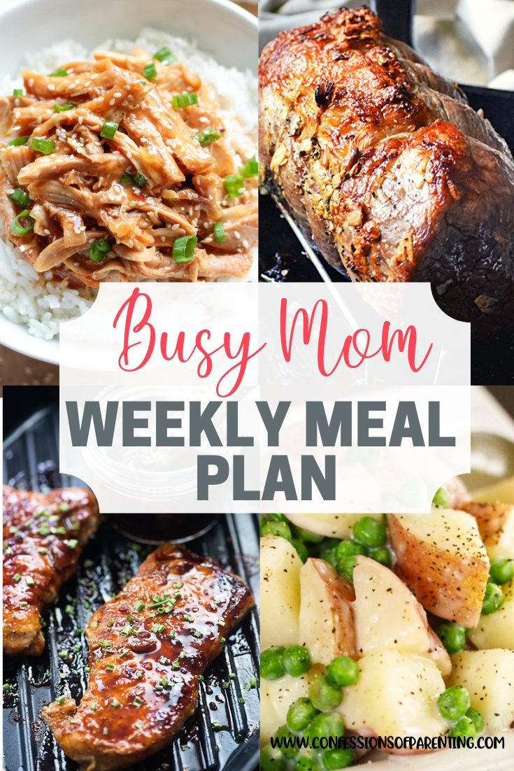 Moms work hard daily, but dinner shouldn't be something you need to work hard on. Use our weekly meal plan for diligent moms to eat more and work less!