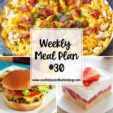 No one wants dinner to be complicated. Use our nothing to it weekly meal plan for families to help simplify your dinnertime! It's just a snap and you're done!