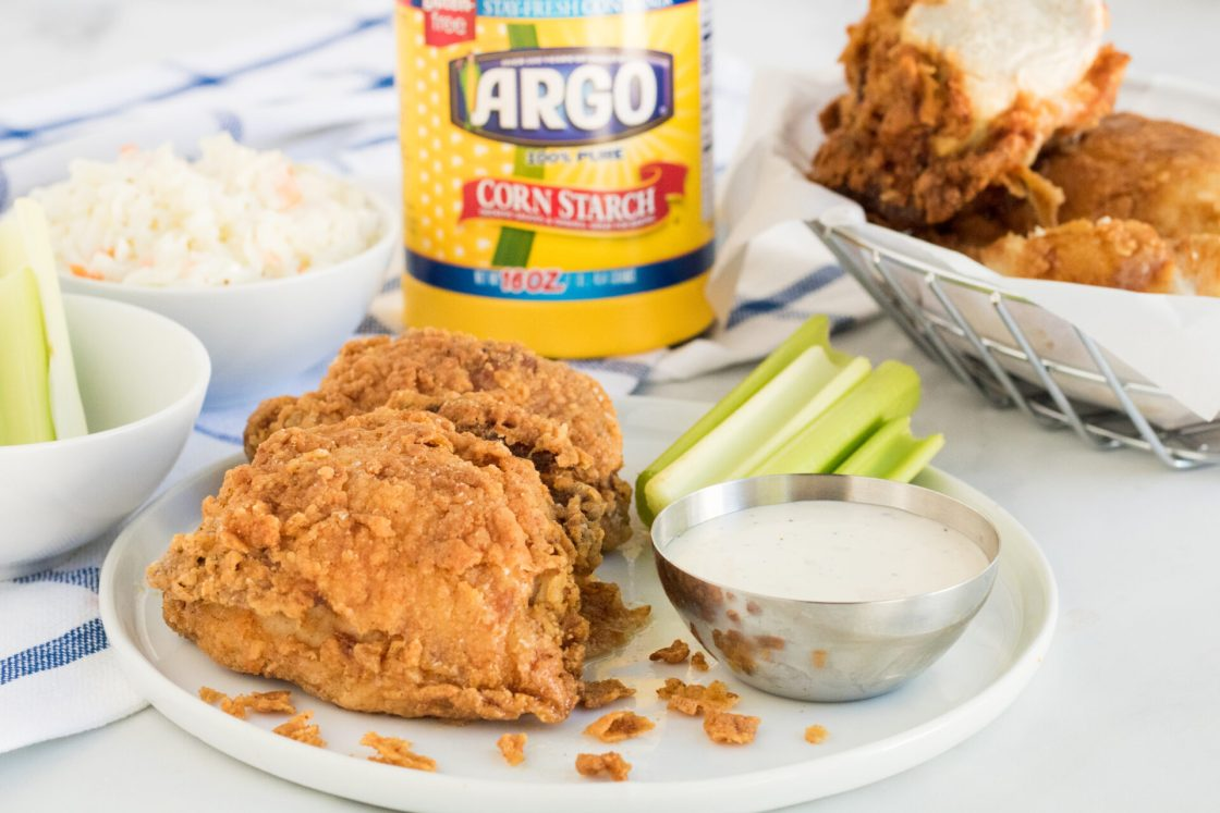 Looking for the crispiest southern fried chicken?Lookno further because we're sharing our secret ingredient to make the crispiest chicken!