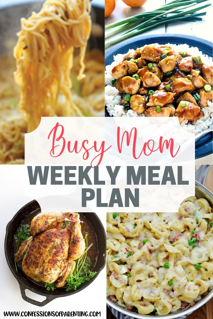 Do you have the dinnertime blues? Let our weekly meal plan for tireless moms help ease your dinner blues. Take a break and get some good food in the process!